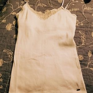 Comfortable White Embroidered Tank Top!
